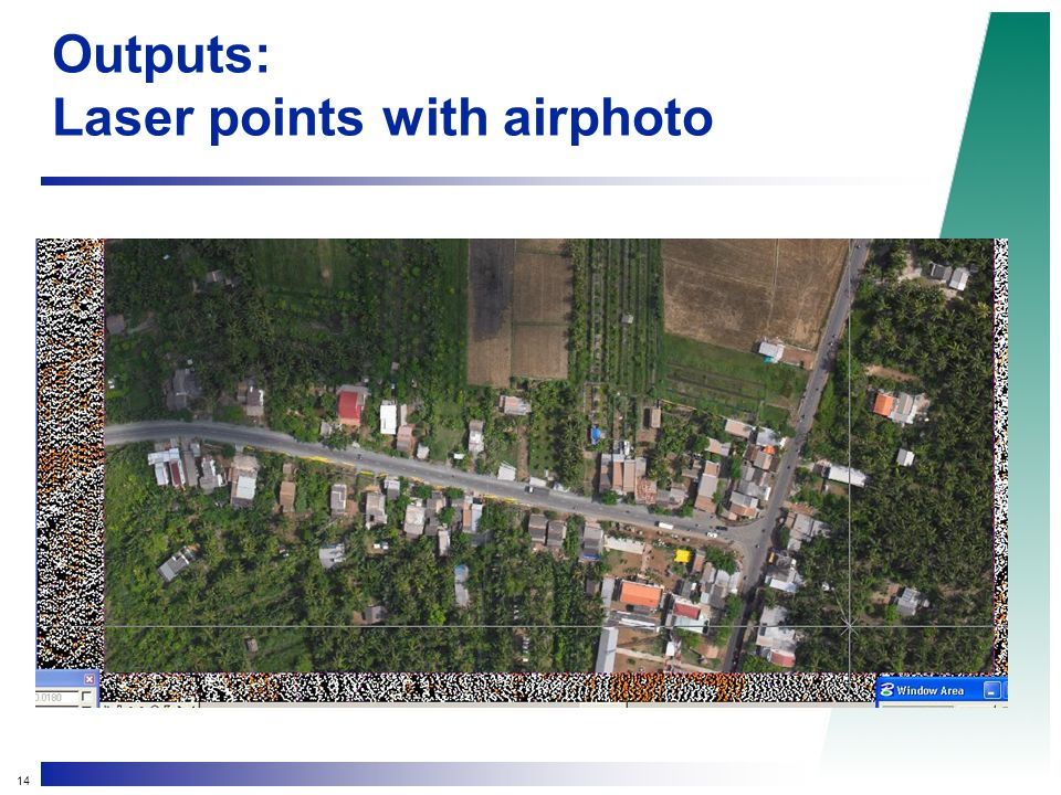 14 Outputs: Laser points with airphoto