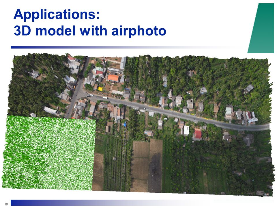 19 Applications: 3D model with airphoto