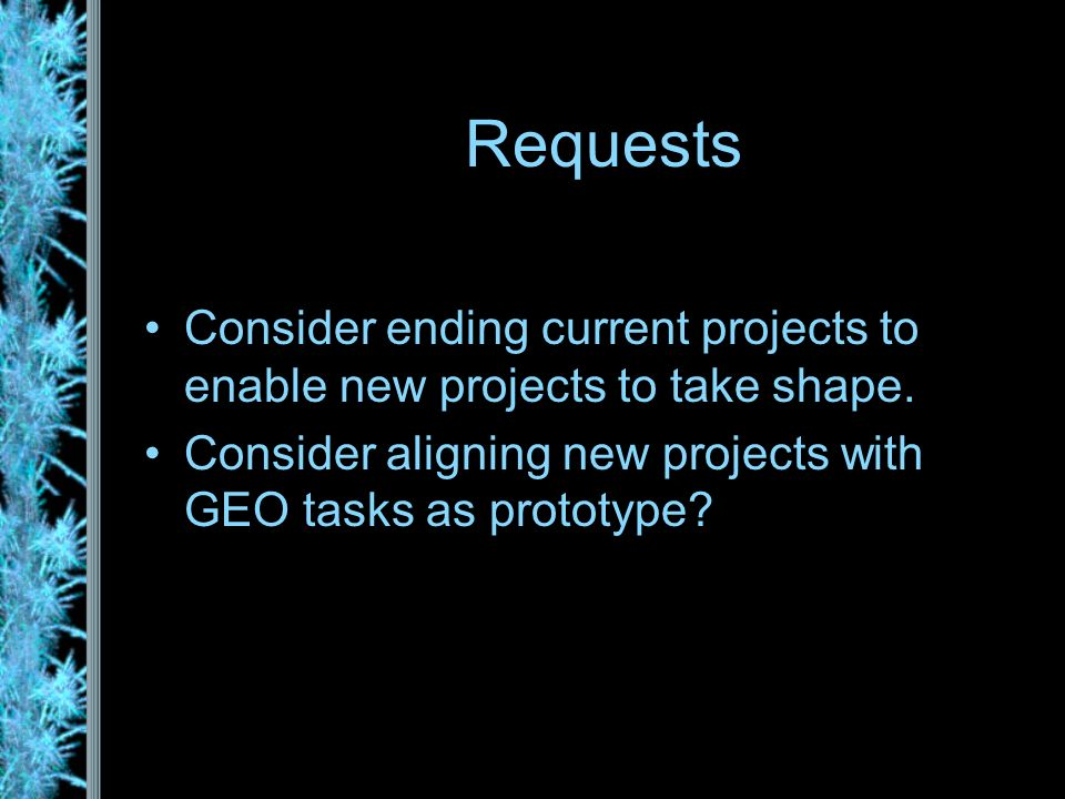 Consider ending current projects to enable new projects to take shape.