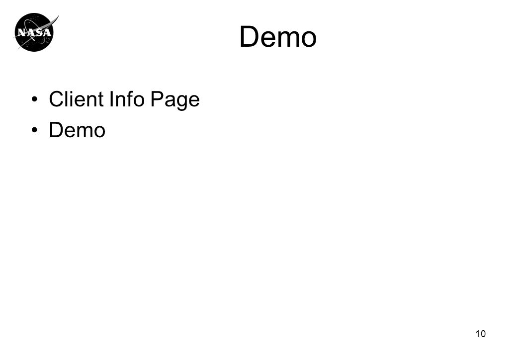 Demo Client Info Page Demo 10