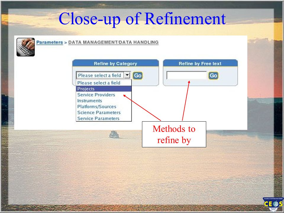 Methods to refine by Close-up of Refinement