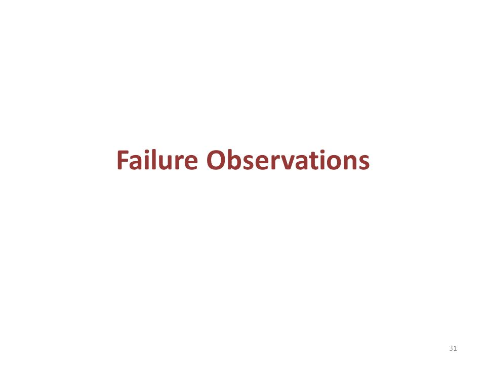 Failure Observations 31