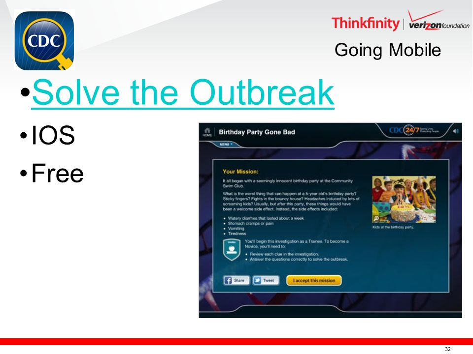 32 Going Mobile Solve the Outbreak IOS Free