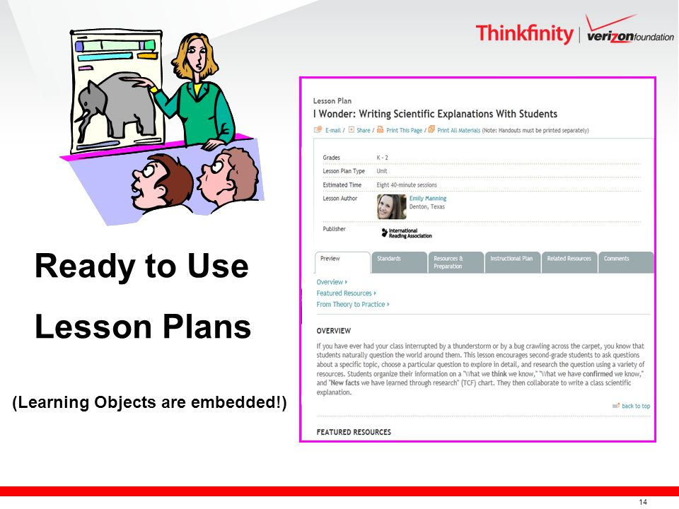 14 Ready to Use Lesson Plans (Learning Objects are embedded!)