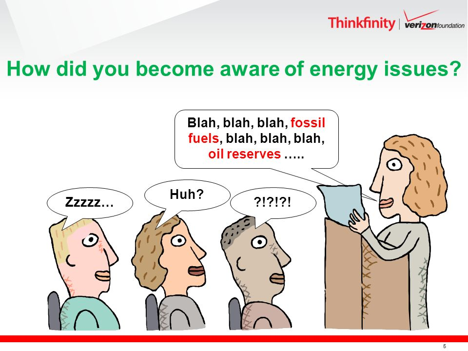 5 How did you become aware of energy issues.