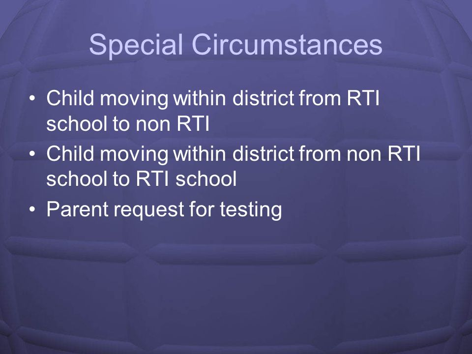 Psychologists Roles at RtI Schools Help with the monitoring of student behaviors for management plans Give guidance on appropriate goals Teach how to administer and score CBMs Sit on Problem Solving Team Progress monitor students in Tier III two to three times a week Keep master database of where each child is located in process