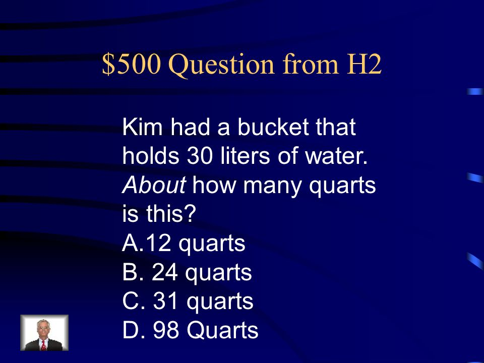 $400 Answer from H2 B.9 meters
