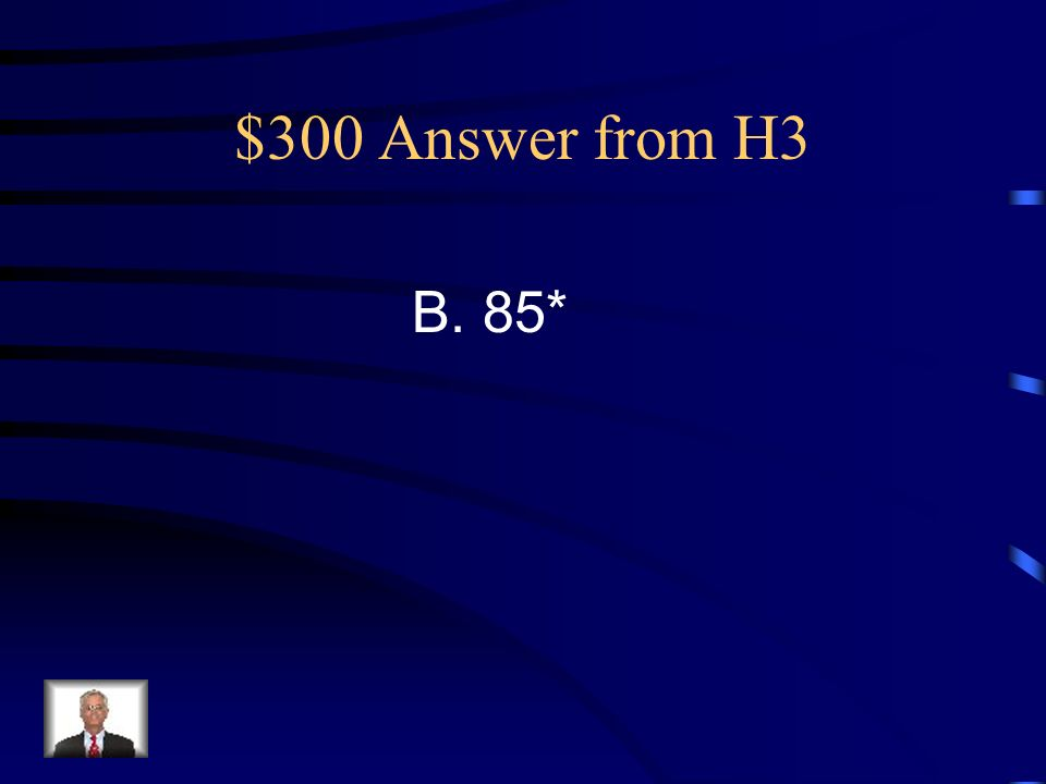 $300 Question from H3 The measurements of three of the four angles of this quadrilateral are shown on the figure.