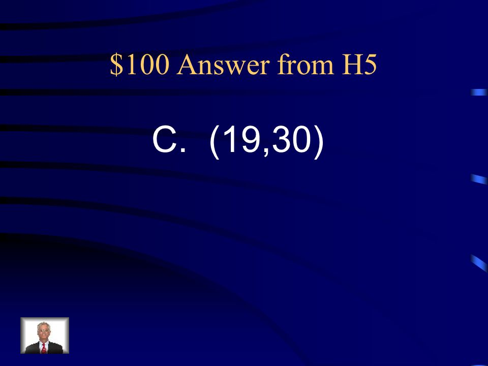 $100 Question from H5 Alana graphed the ordered pairs listed below: (1,3), (3,6), (5,9), (7,12)….