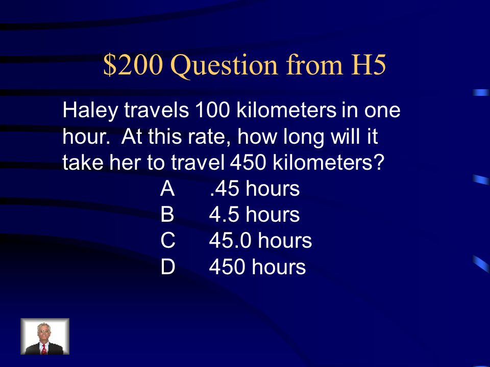 $100 Answer from H5 C. (19,30)