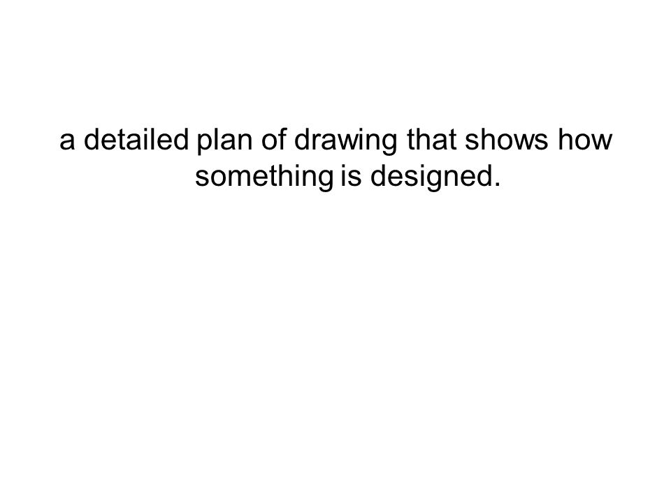 a detailed plan of drawing that shows how something is designed.