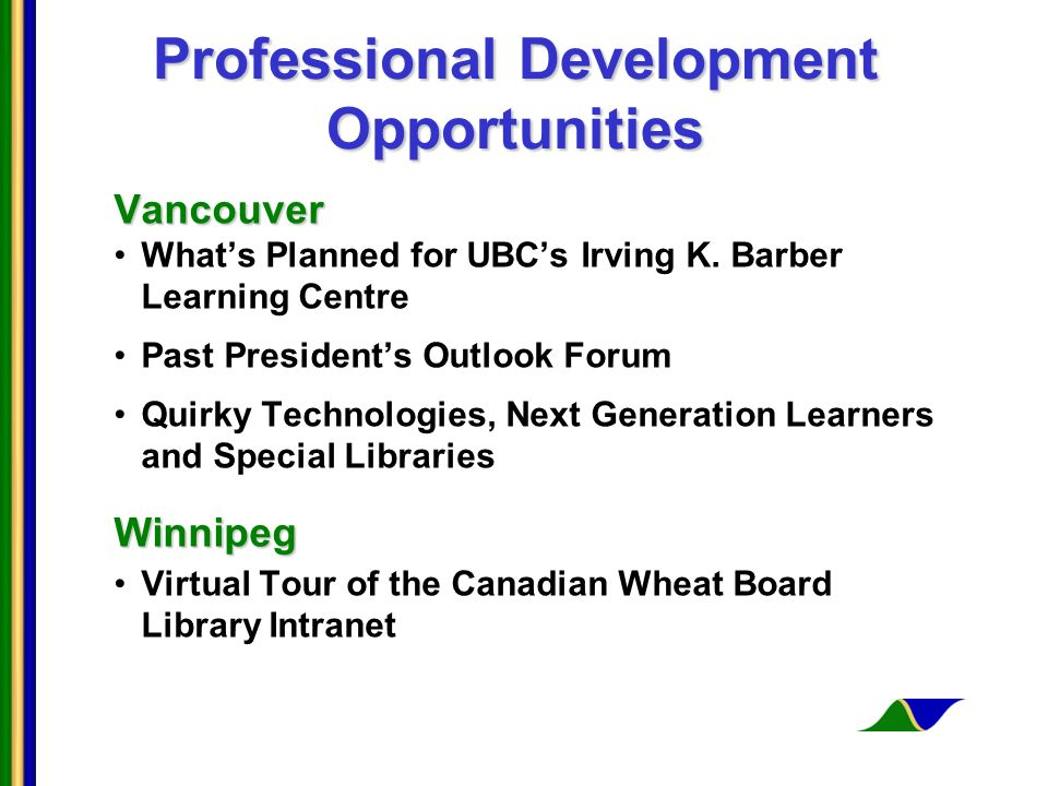 Professional Development Opportunities Vancouver Whats Planned for UBCs Irving K.