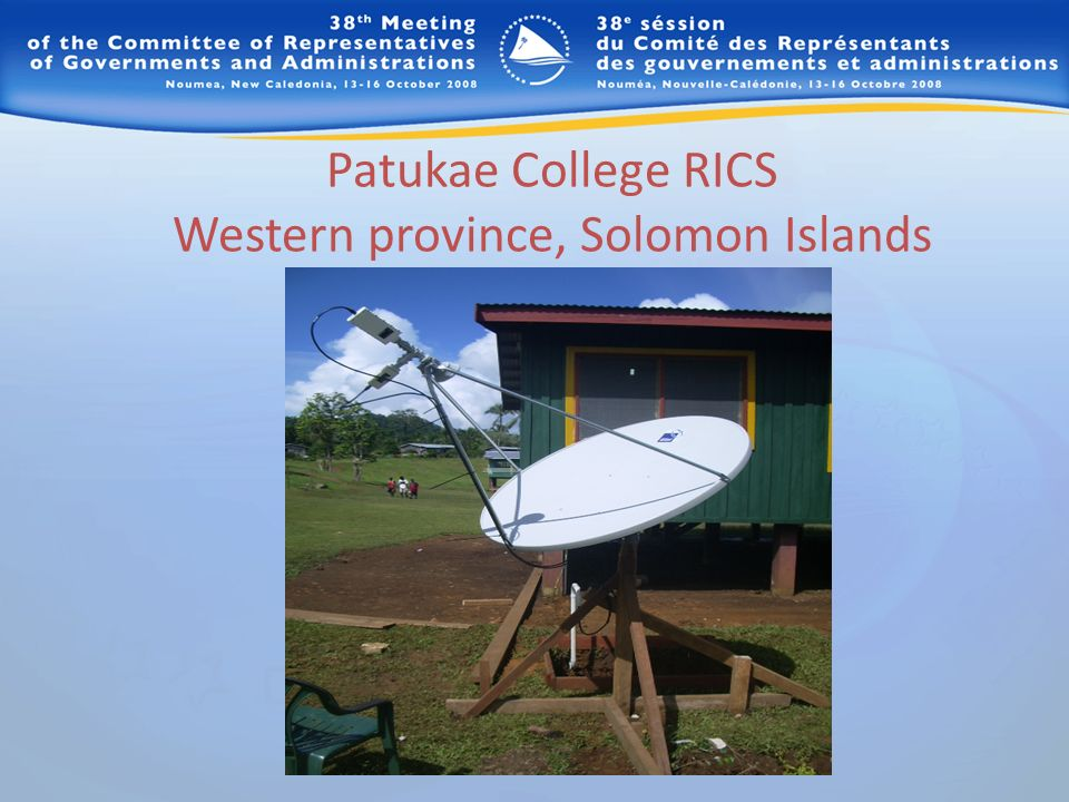 Patukae College RICS Western province, Solomon Islands