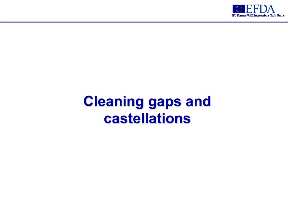 Cleaning gaps and castellations