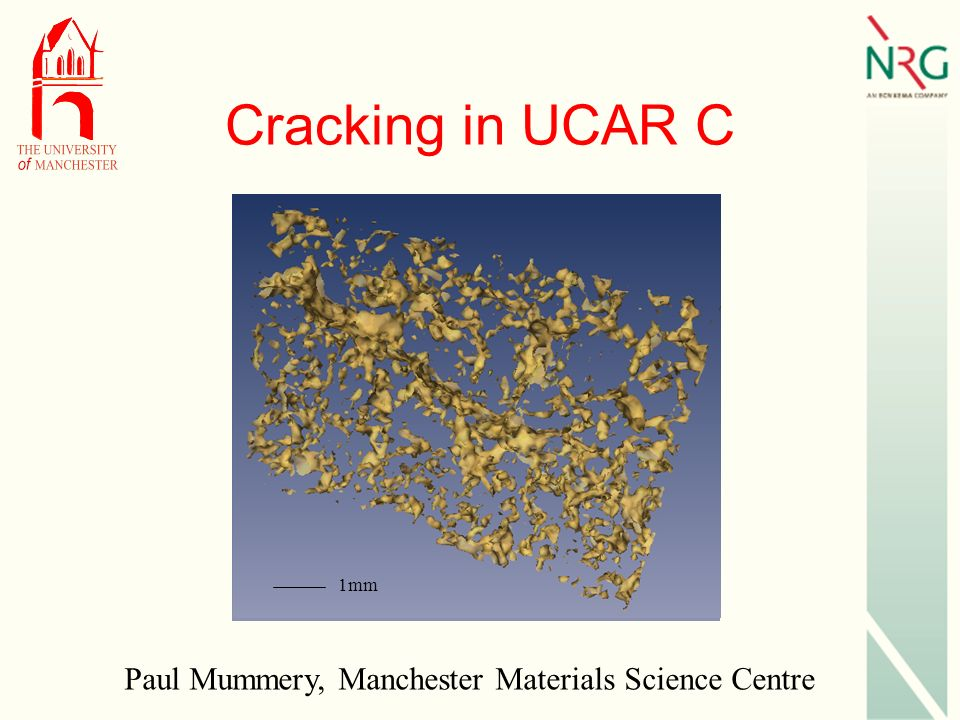Cracking in UCAR C 1mm Paul Mummery, Manchester Materials Science Centre
