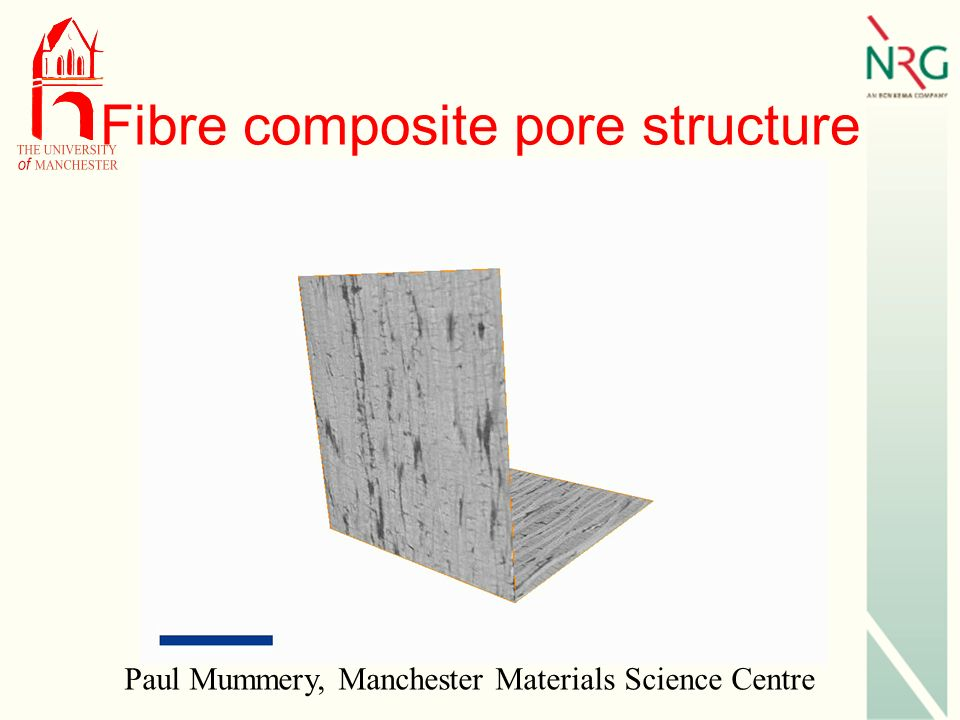 Fibre composite pore structure Paul Mummery, Manchester Materials Science Centre
