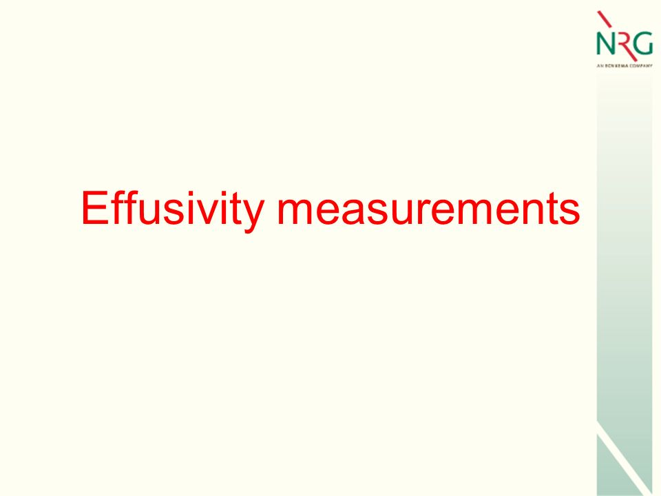 Effusivity measurements