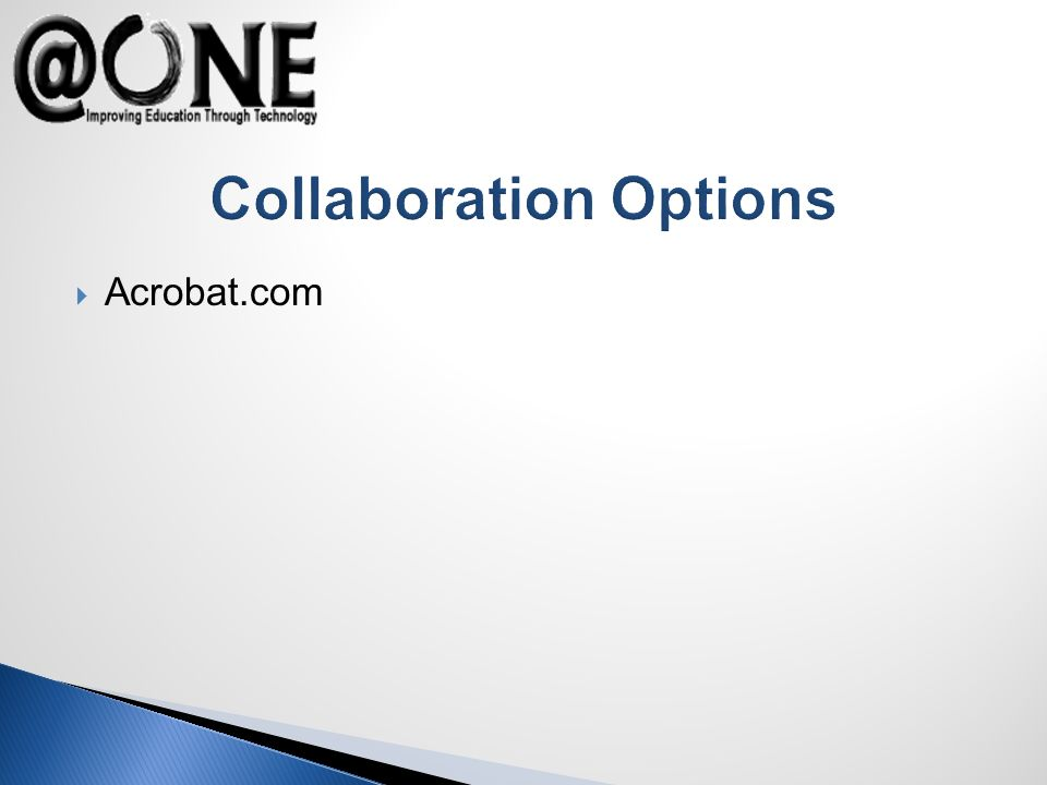 Collaboration Options Acrobat.com