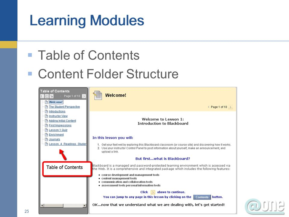 25 Table of Contents Content Folder Structure