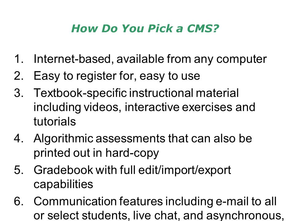 How Do You Pick a CMS.
