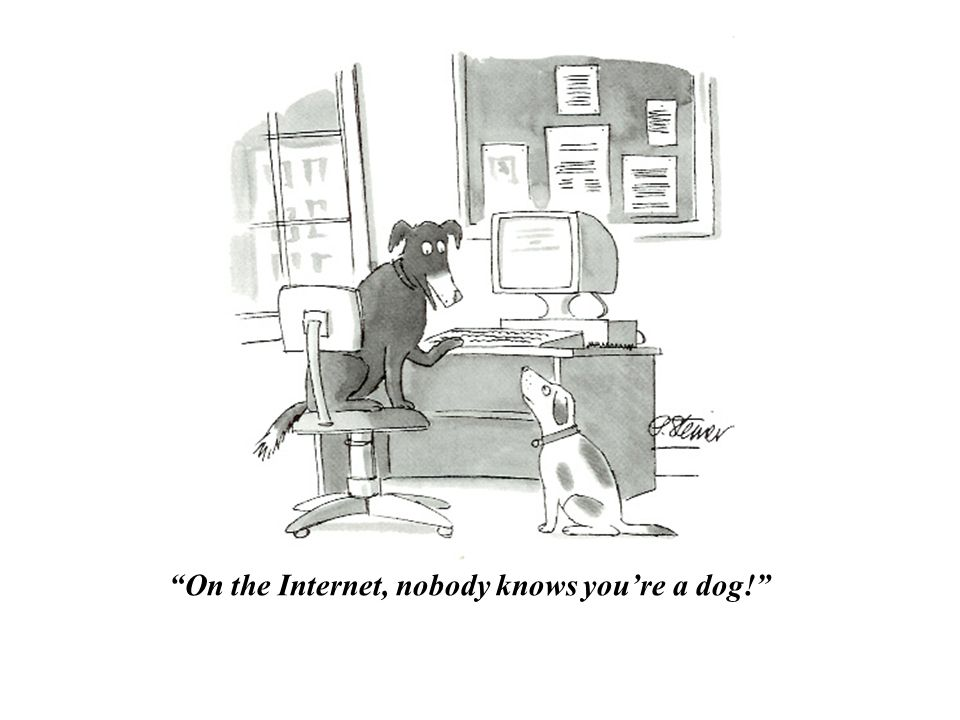 On the Internet, nobody knows youre a dog!