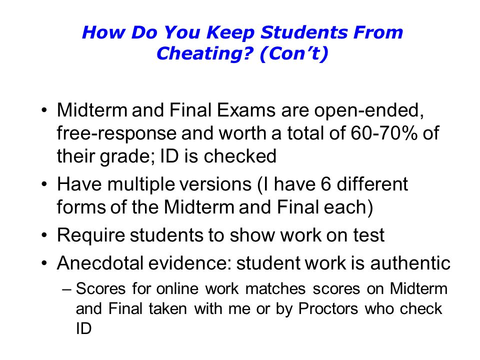 How Do You Keep Students From Cheating.