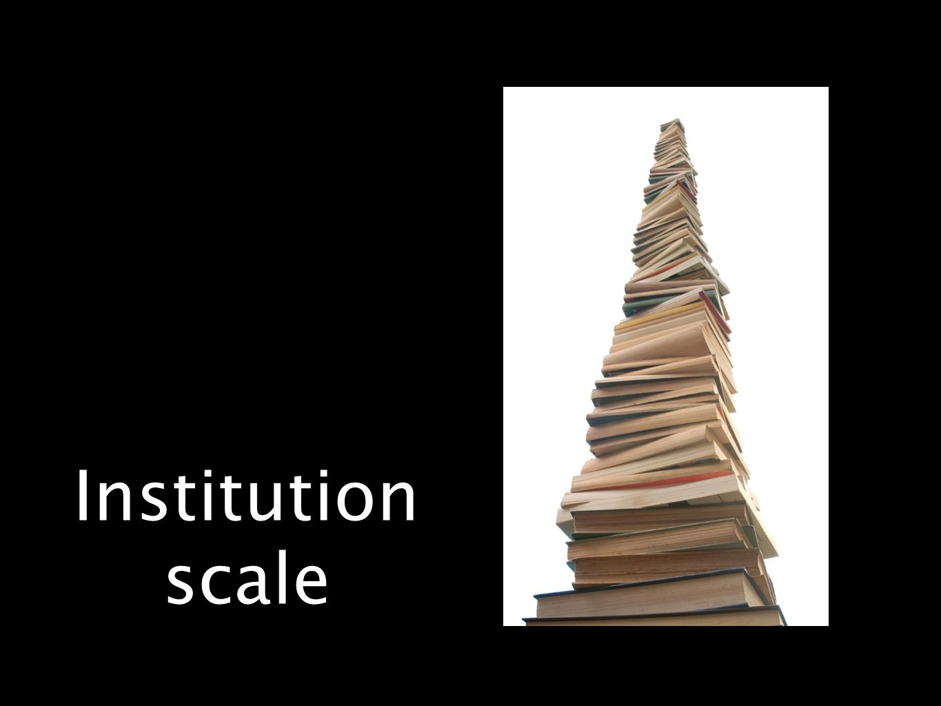 Institution scale