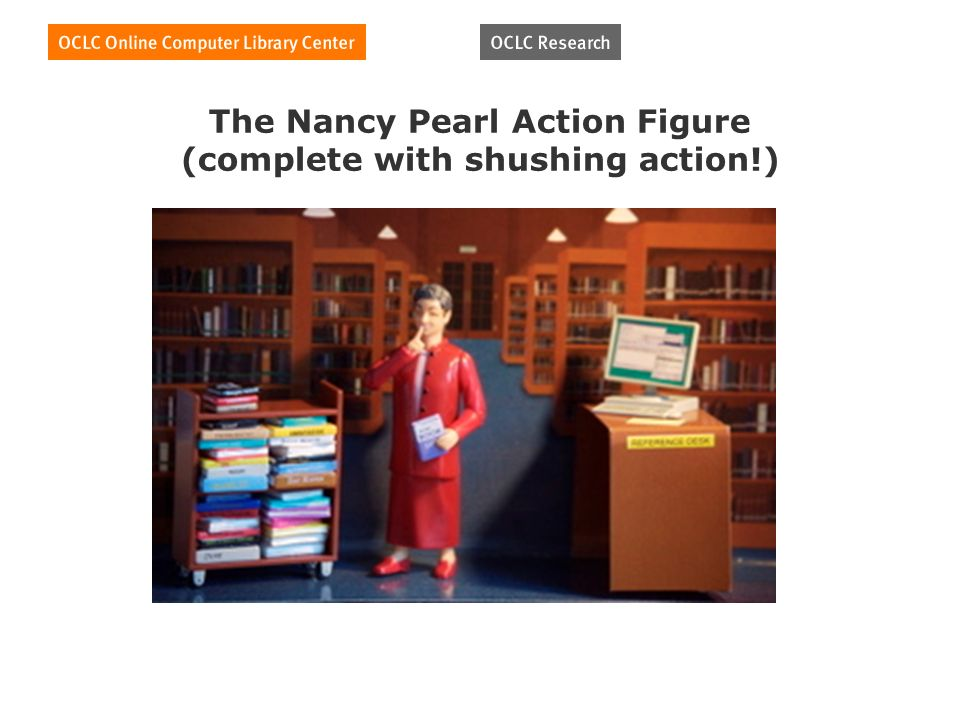 The Nancy Pearl Action Figure (complete with shushing action!)