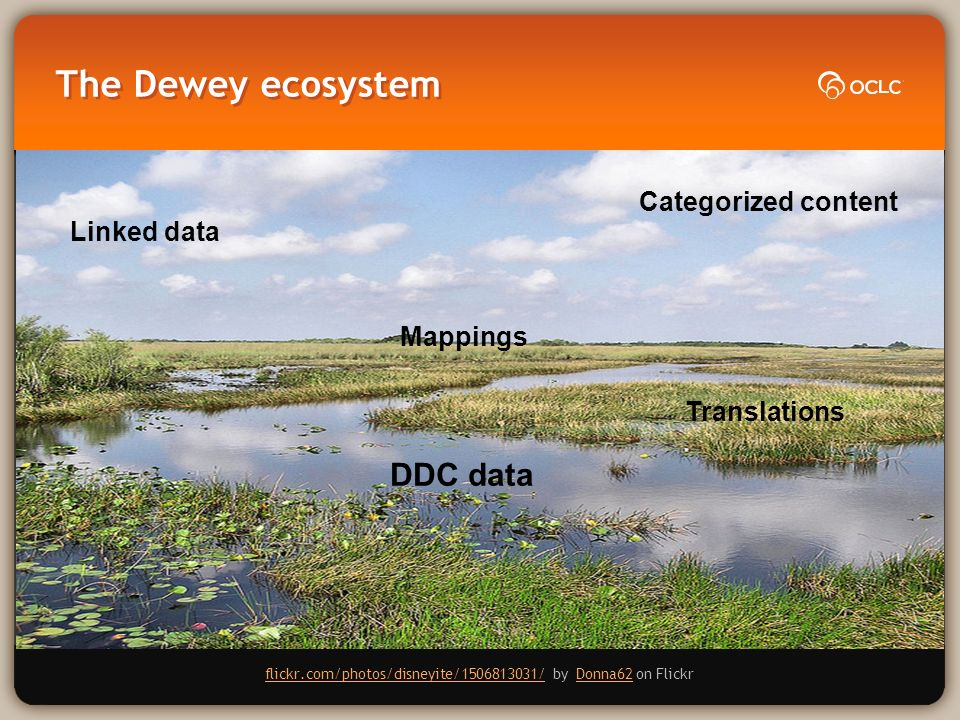 The Dewey ecosystem flickr.com/photos/disneyite/1506813031/flickr.com/photos/disneyite/1506813031/ by Donna62 on FlickrDonna62 Linked data DDC data Categorized content Translations Mappings