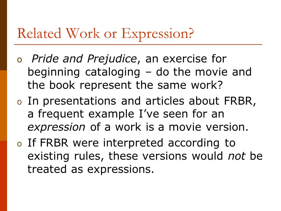 Related Work or Expression.