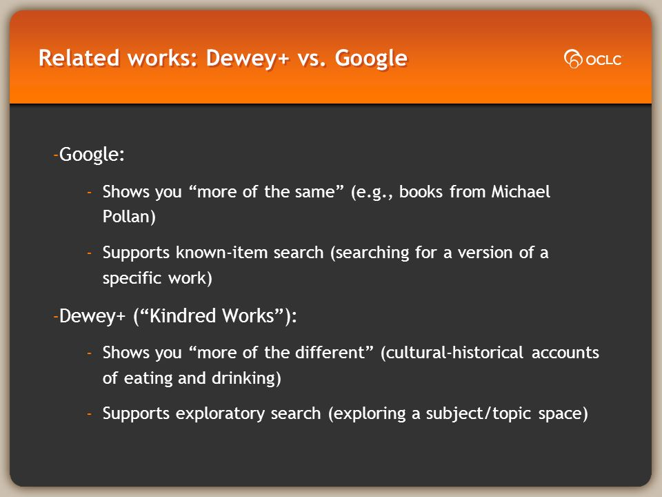 Related works: Dewey+ vs.