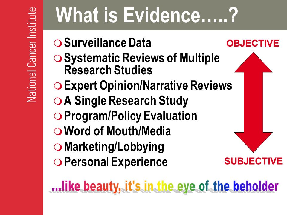 What is Evidence…...