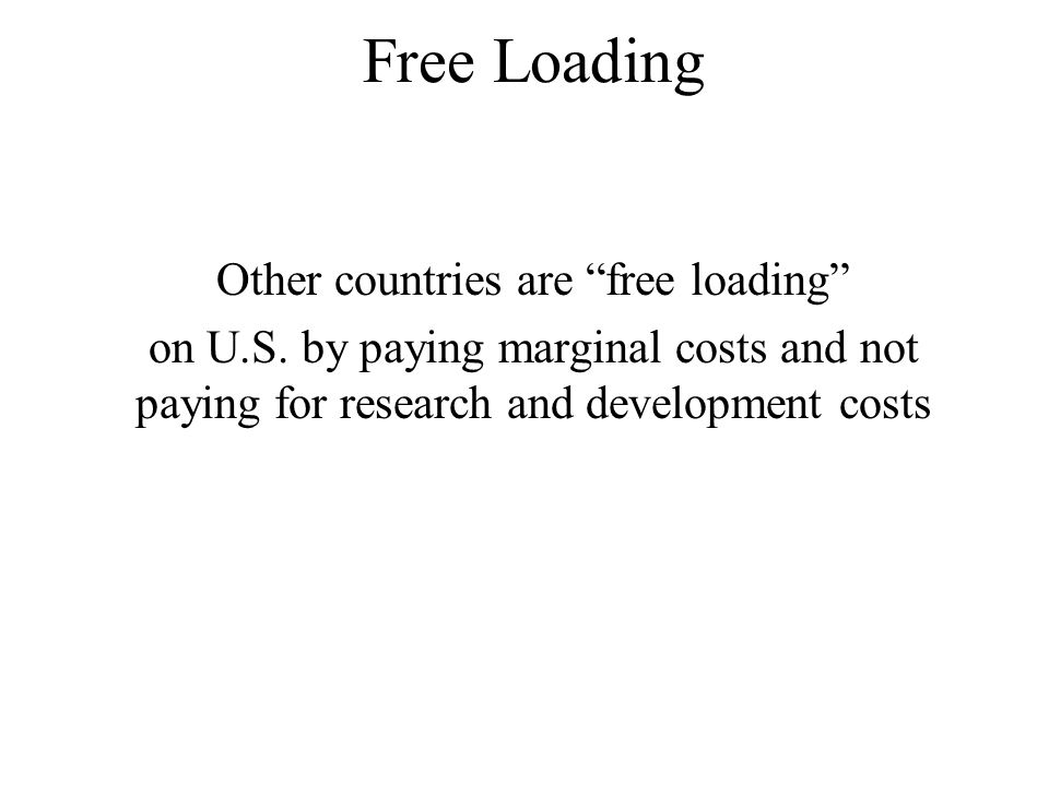 Free Loading Other countries are free loading on U.S.