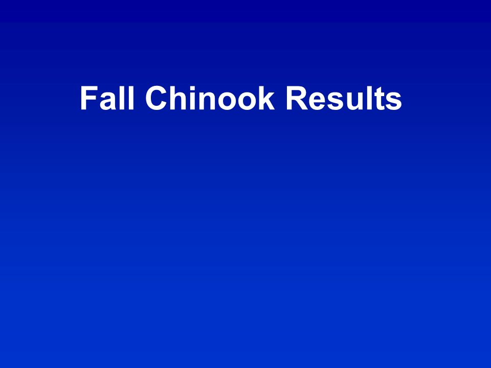 Fall Chinook Results