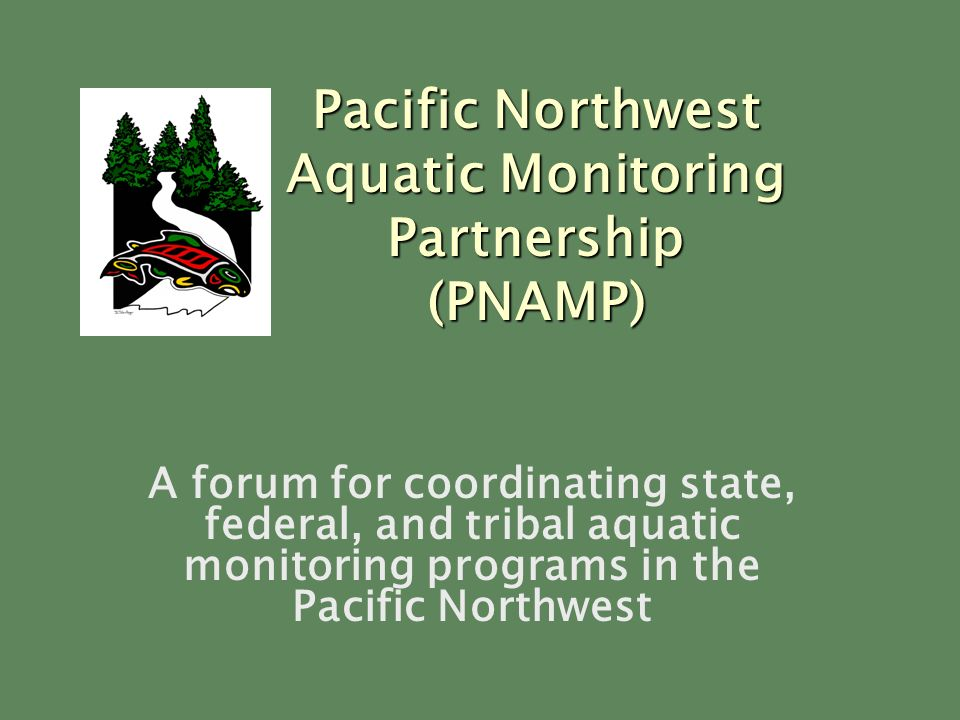 A forum for coordinating state, federal, and tribal aquatic monitoring programs in the Pacific Northwest Pacific Northwest Aquatic Monitoring Partnership (PNAMP)