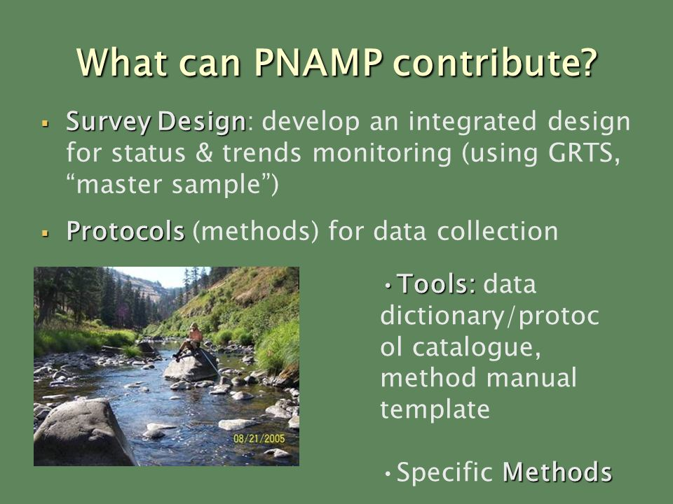 What can PNAMP contribute.