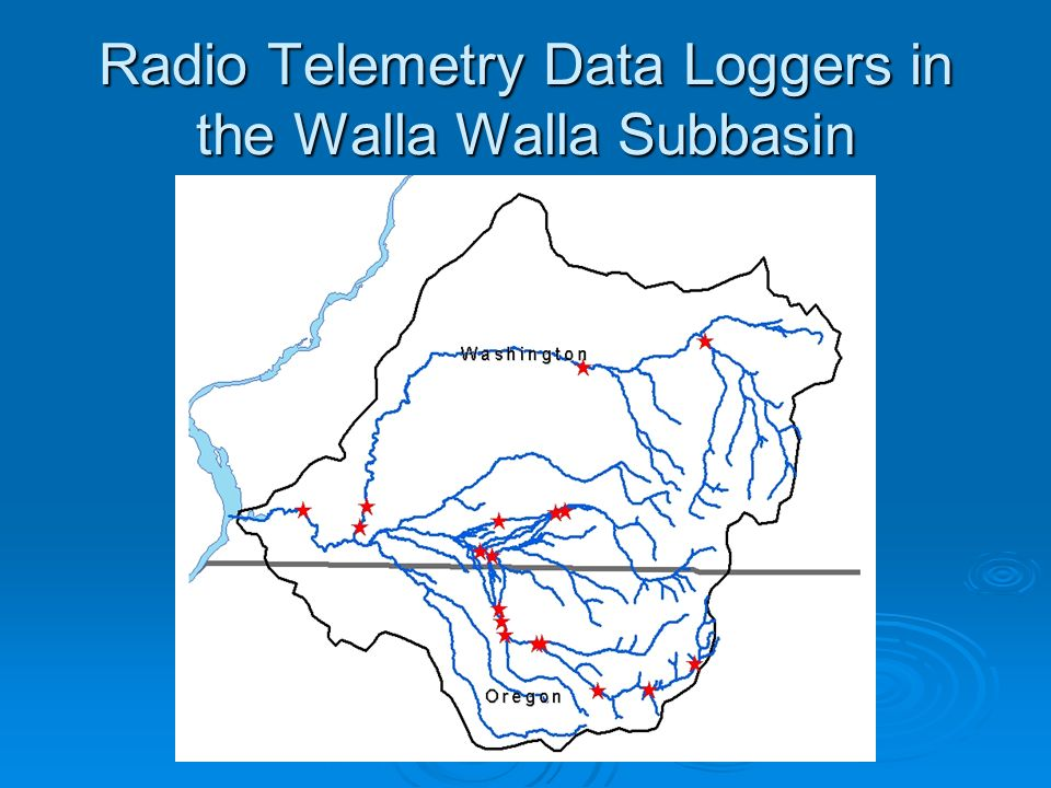 Radio Telemetry Data Loggers in the Walla Walla Subbasin