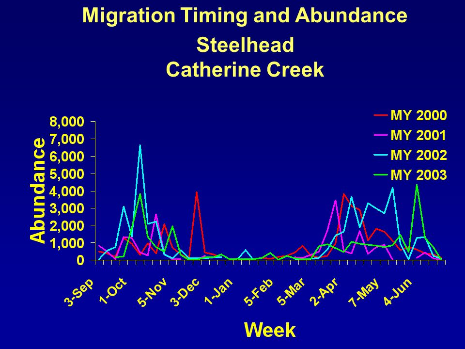 Migration Timing and Abundance Steelhead Catherine Creek