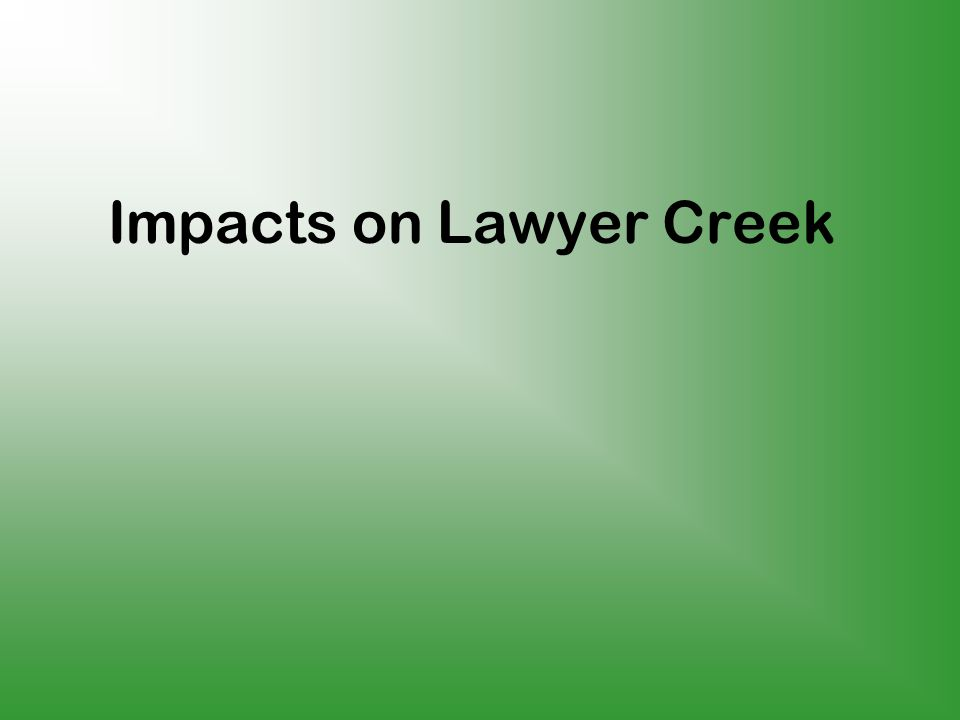 Impacts on Lawyer Creek