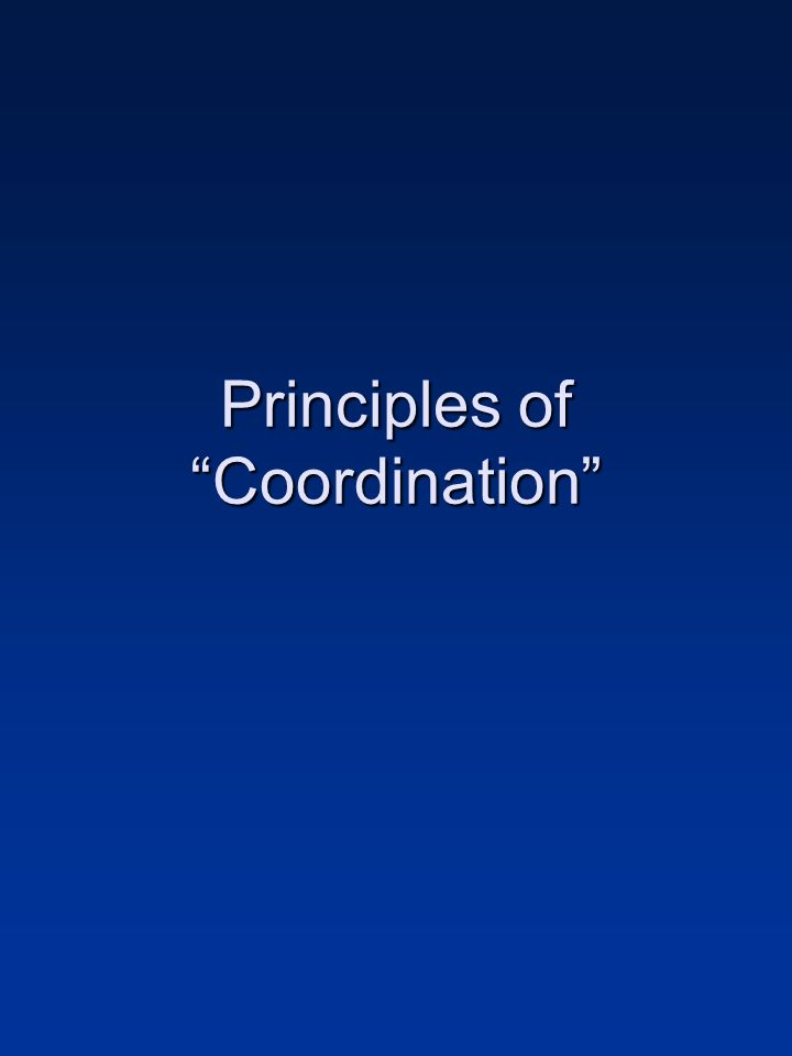 Principles of Coordination