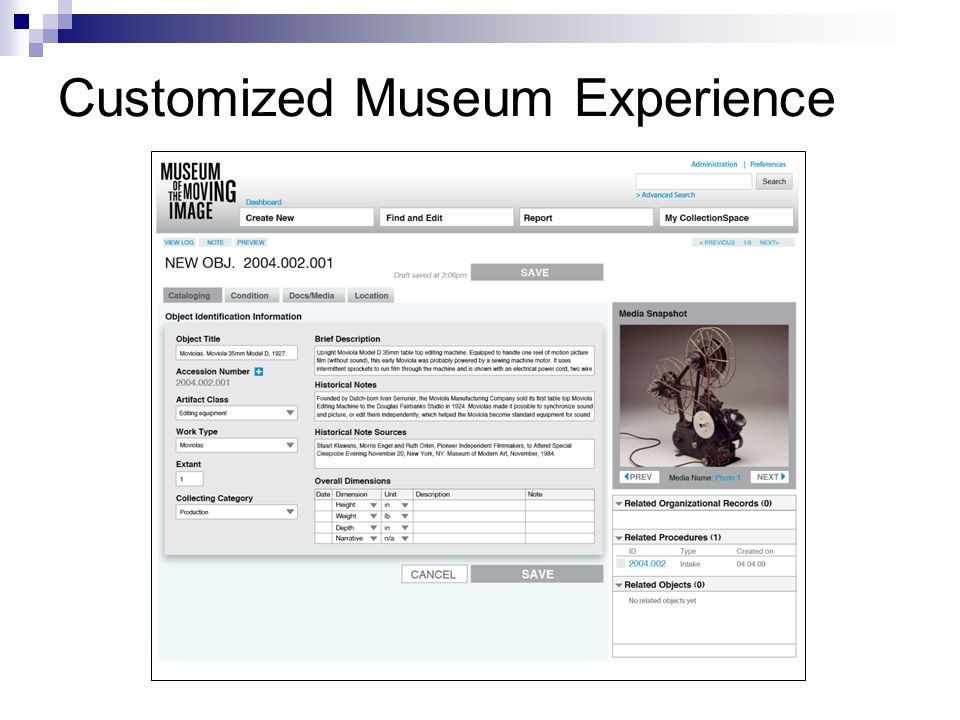 Customized Museum Experience