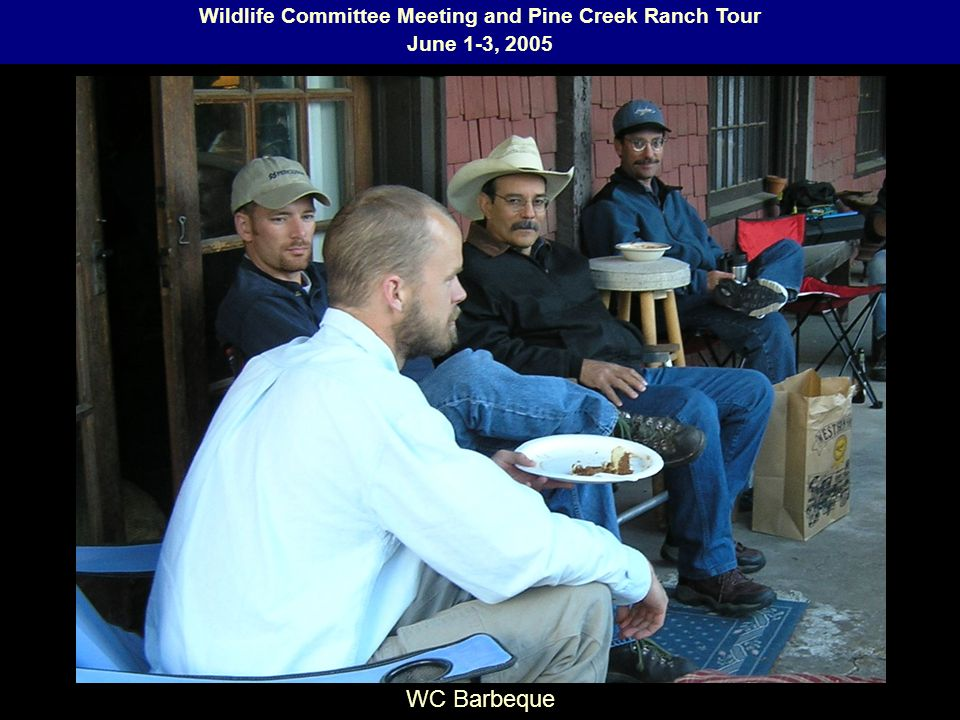 Wildlife Committee Meeting and Pine Creek Ranch Tour June 1-3, 2005 WC Barbeque