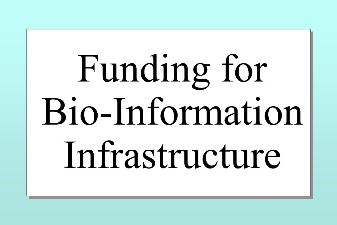 Funding for Bio-Information Infrastructure Funding for Bio-Information Infrastructure