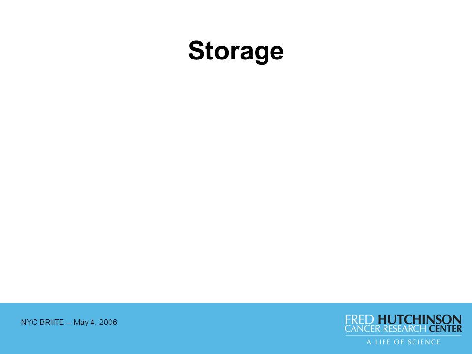 NYC BRIITE – May 4, 2006 Storage