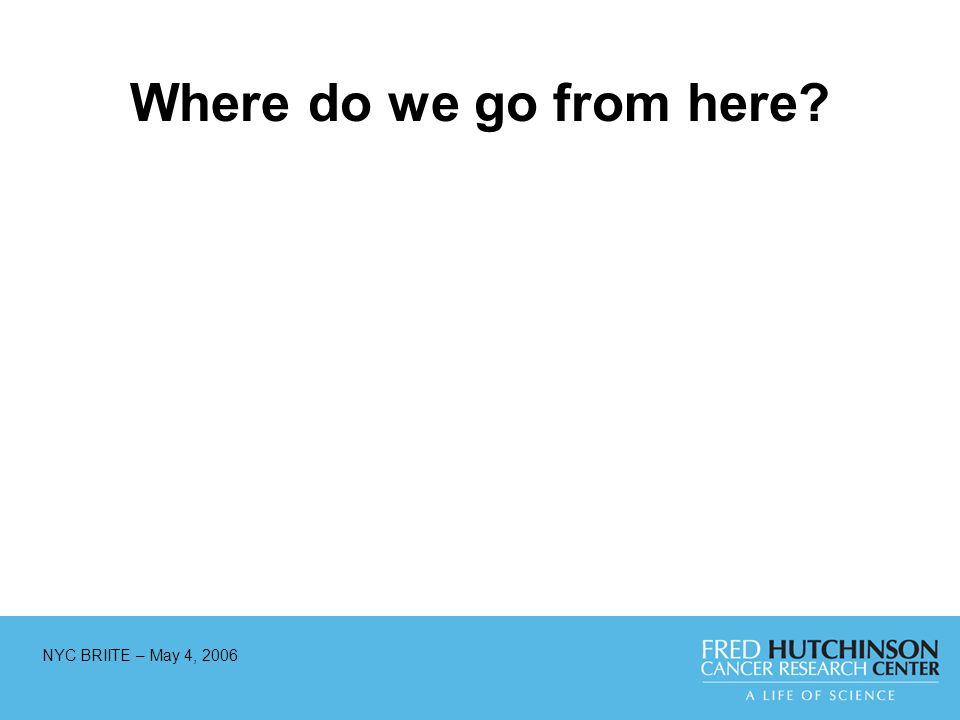 NYC BRIITE – May 4, 2006 Where do we go from here