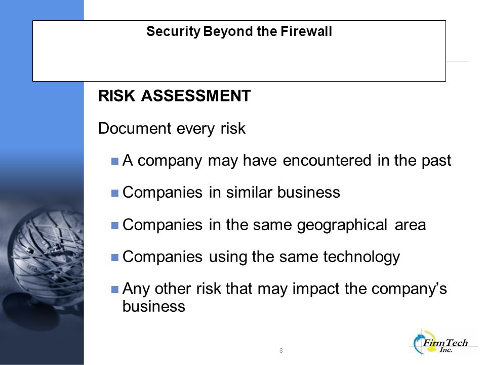 Security Beyond the Firewall Protecting Information in the