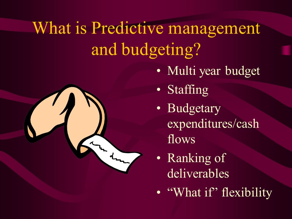 What is Predictive management and budgeting.