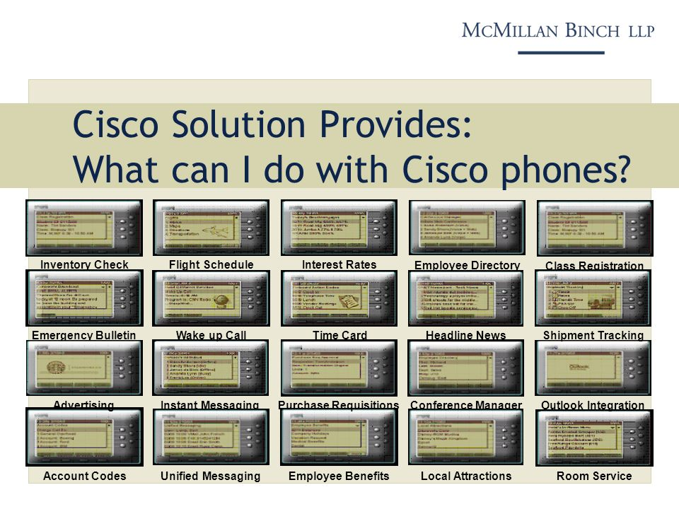 Cisco Solution Provides: What can I do with Cisco phones.