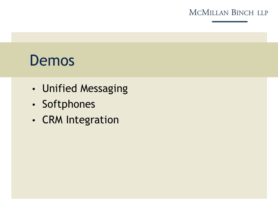 Demos Unified Messaging Softphones CRM Integration