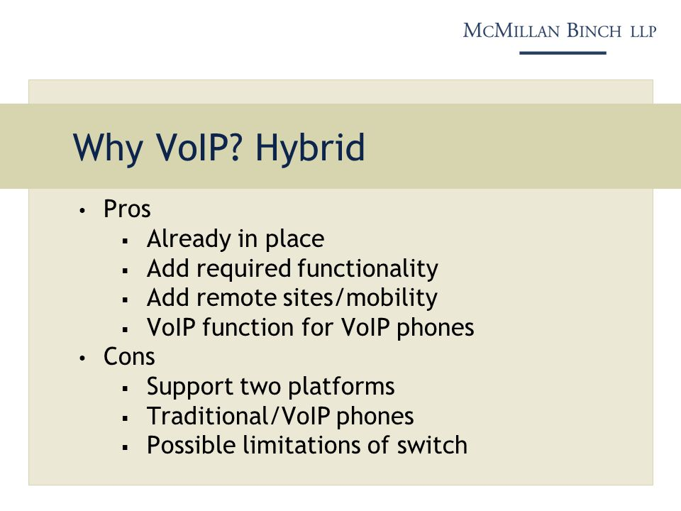 Why VoIP.